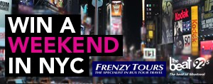WIN a weekend in NYC with Frenzy Tours!