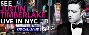 SEE JUSTIN TIMBERLAKE LIVE IN NYC WITH FRENZY TOURS