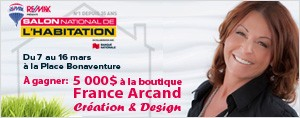 Mobilier France Arcand Creation & Design d'une valeur de 5 000$