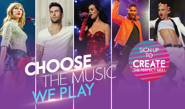 CHOOSE THE MUSIC WE PLAY!