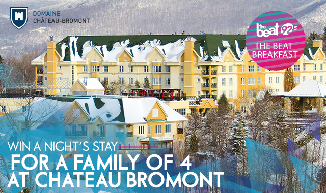 win a night for a family of four at Hotel Chateau Bromont