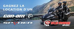Gagnez une location d'un Can-Am Spyder 2016 pour un weekend