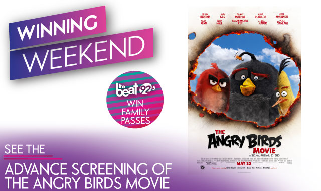 It's a winning weekend! See an advanced screening of The Angry Birds Movie