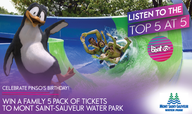 Celebrate Pinso's Birthday at Mont Saint-Sauveur Water Park