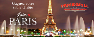 Gagnez votre table d'h�te J'aime Paris du Paris Grill