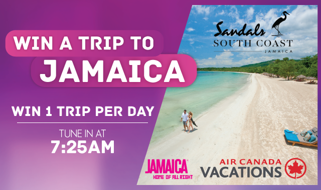 WIN a trip for 2 to Jamaica