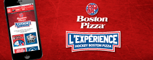 L'expérience hockey Boston Pizza