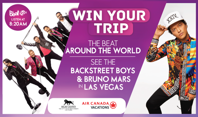 The Beat Around The World - See The Backstreet Boys & Bruno Mars in Vegas