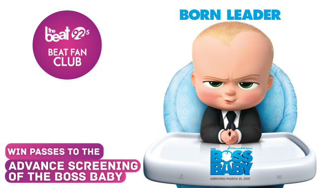 The Beat has your passes for THE BOSS BABY