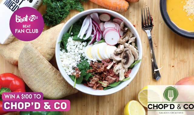 WIN a $100 gift certificate to Chop'd & Co