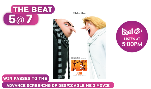 The Beat has your passes to see Despicable Me 3