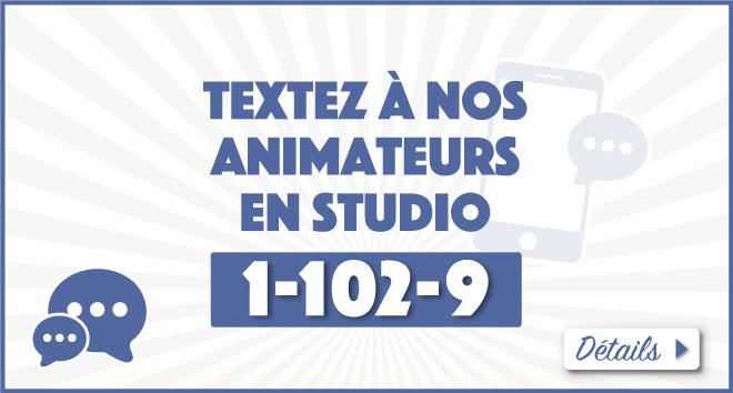 Textez à nos animateurs
