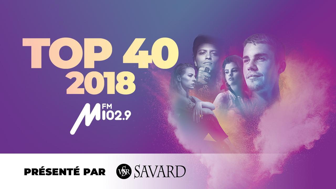 Le Top 40 MFM 102,9 2018