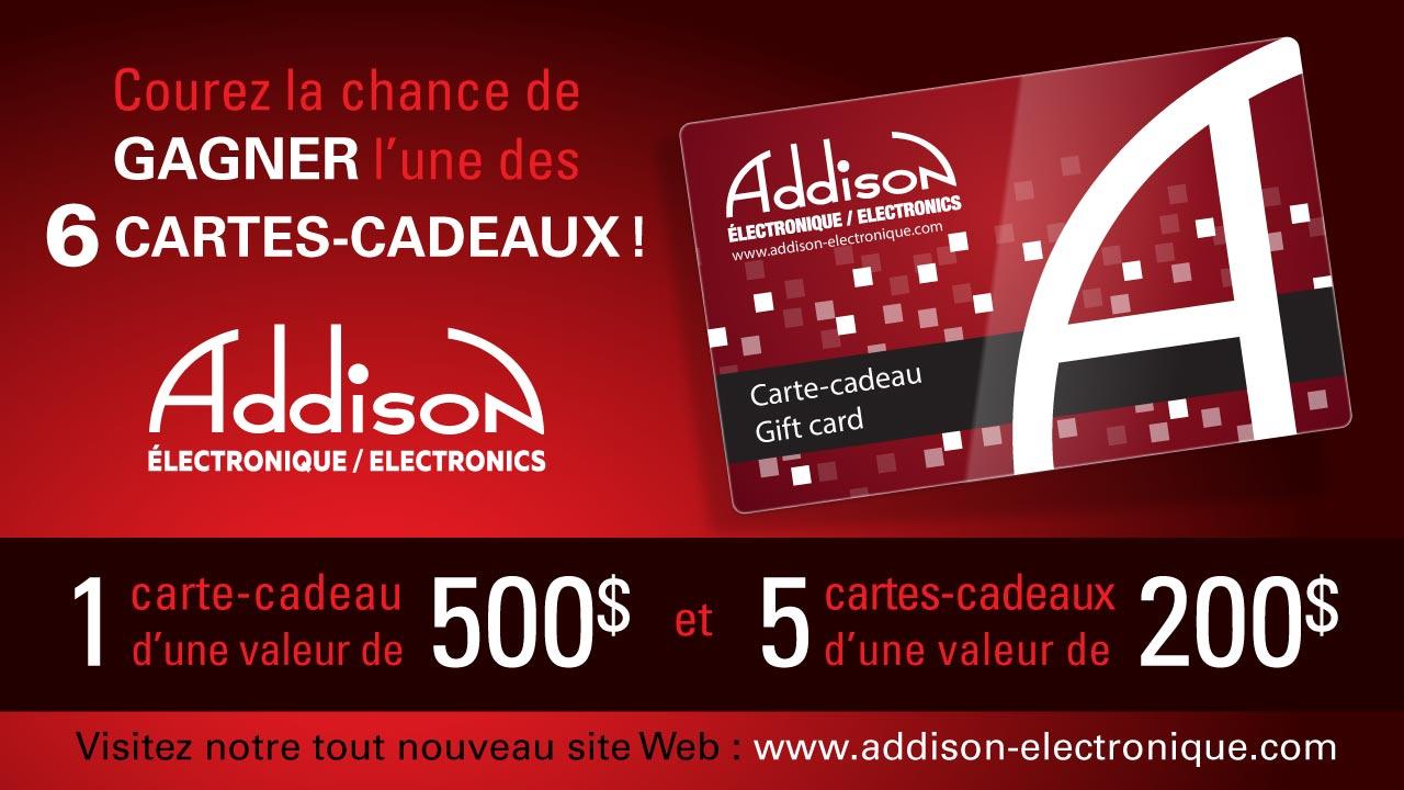 Une carte-cadeau Addison Électronique!