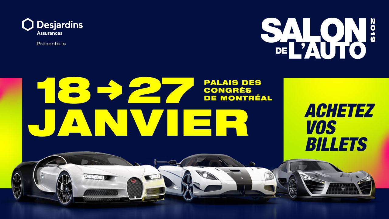 Vos billets pour le Salon International de l'Auto de Montréal!