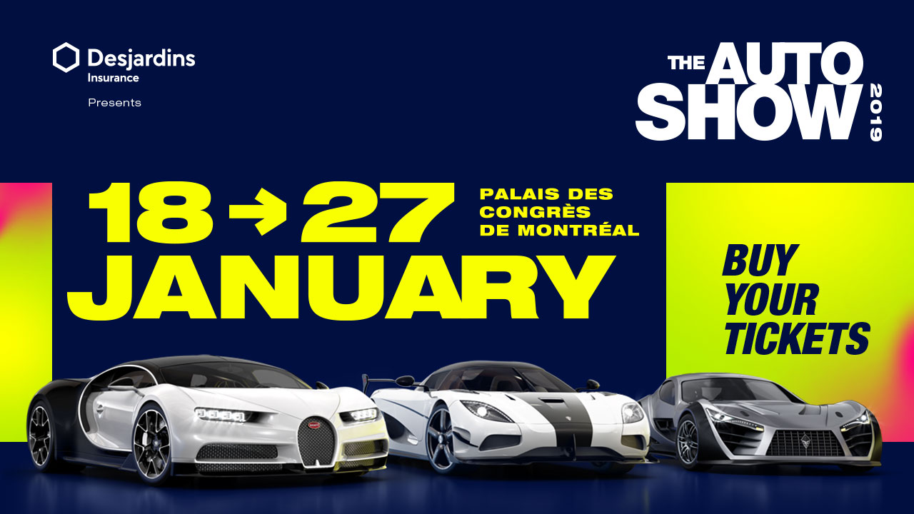 WIN tickets to the Montreal Auto Show