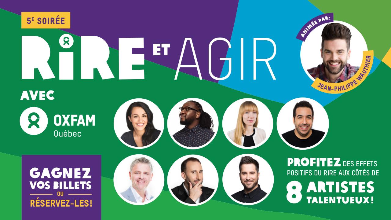 Assistez à la soirée d'humour d'Oxfam-Québec!