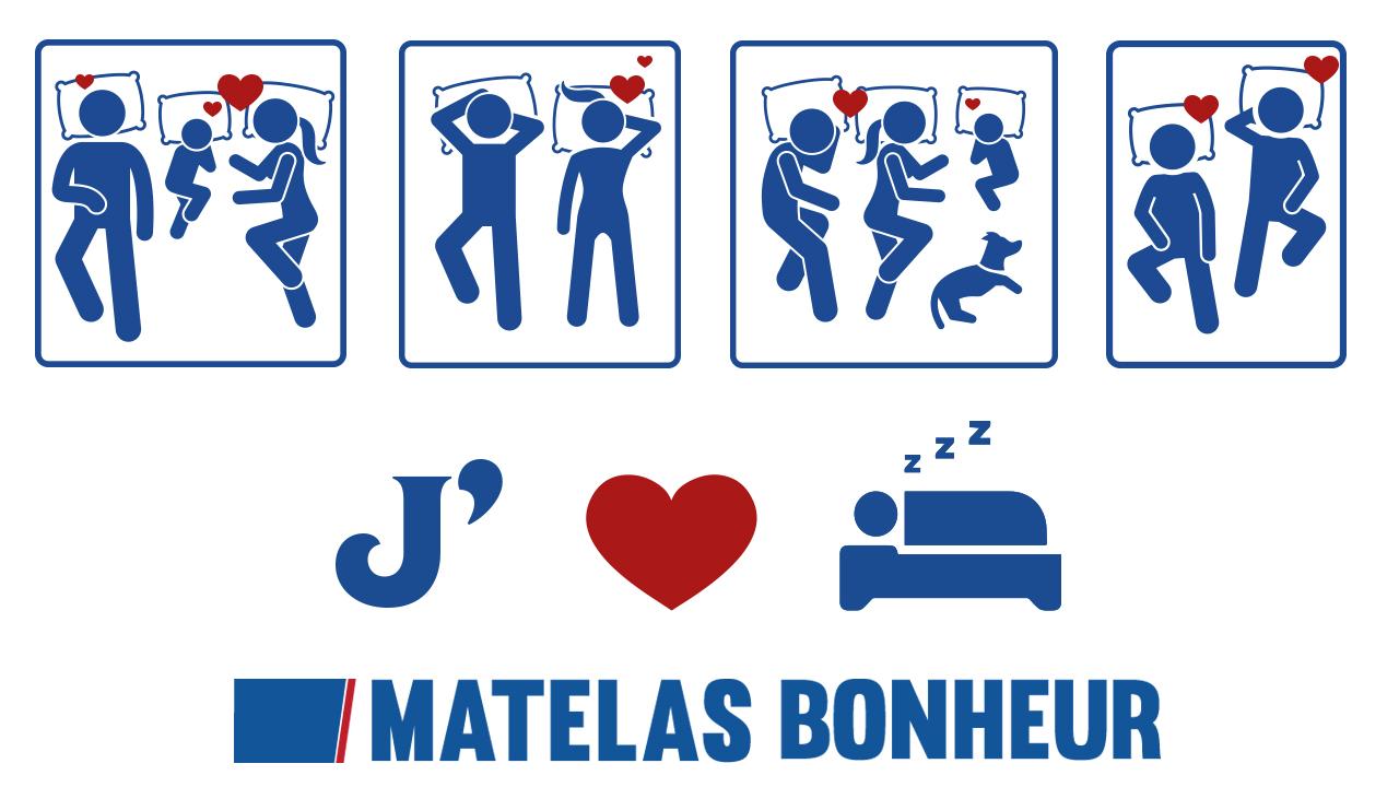 Matelas Bonheur : adapté pour toutes les positions!