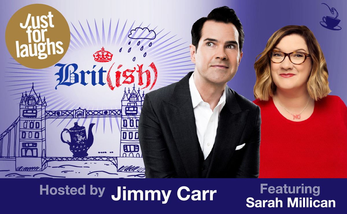 WIN 2 V.I.P tickets to SEE Brit(ish) hosted by Jimmy Carr