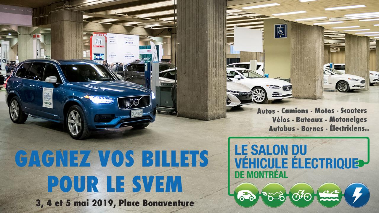 Vos billets pour le Salon du véhicule électrique de Montréal!
